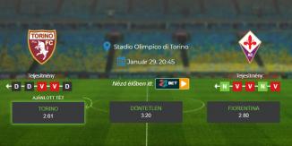 Foci Tippek: Torino - Fiorentina 2021. január 29. - Serie A
