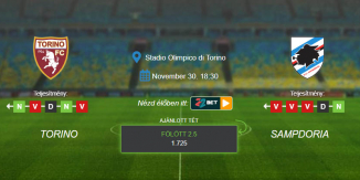 Foci Tippek: Torino - Sampdoria 2020. november 30. - Serie A