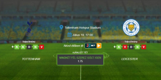 Foci Tippek: Tottenham - Leicester 2020. július 19. - Premier League