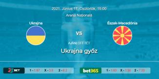 Foci Tippek: Ukrajna - Észak-Macedónia 2021. június 17. - Euro 2020