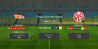 Foci Tippek: Union Berlin – Mainz 2020. május 27. - Bundesliga