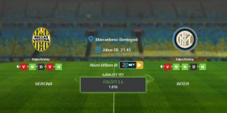 Foci Tippek: Verona - Inter 2020. július 9. - Serie A