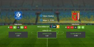 Foci Tippek: Vitebsk – Slavia Mozyr 2020. május 03. - Vysshaya Liga