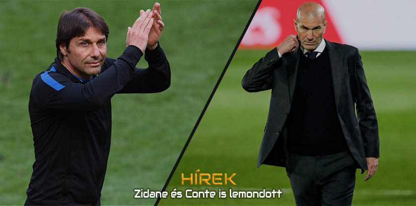 Zidane and Conte leaves their teams