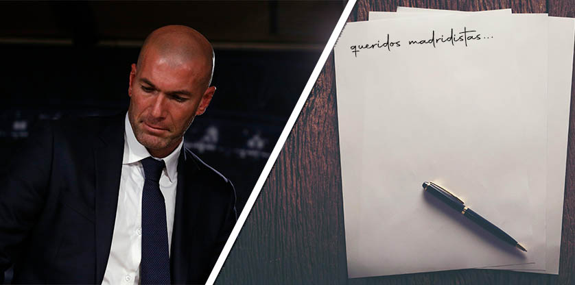 Zinedine Zidane letter
