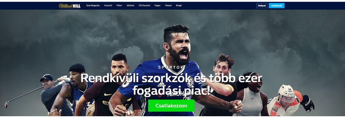 William Hill bukméker főoldal